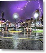 Electric Detroit  Metal Print by Nicholas  Grunas