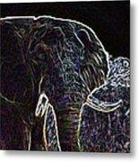 Electric Elephant Metal Print