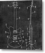 Electric Guitar Patent 039 Metal Print