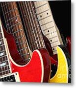 Electric Guitars Closeup Metal Print