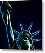 Electric Liberty Metal Print