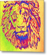 Electric Lion Metal Print