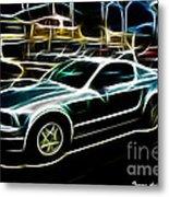 Electric Mustang Metal Print