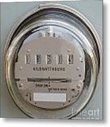 Electric Power Supply Watthour Meter Glass Covered Metal Print