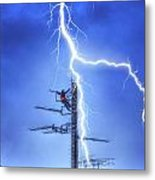 Electric Shock Metal Print