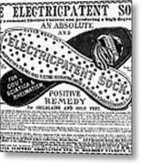 Electric Socks, 1884 Metal Print
