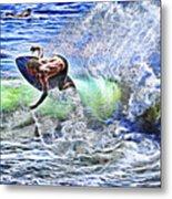 Electric Splash Metal Print