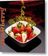 Electric Strawberry IIi Metal Print
