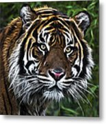 Electric Tiger Metal Print