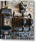 Electrical Energy Safety Switch Metal Print by Paul Ward