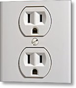 Electrical Outlet Metal Print by Olivier Le Queinec