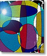 Electrifying Color Metal Print