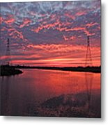 Electrifying Towers Metal Print