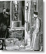 Electroplating The Dead, 1891 Metal Print