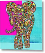 Elefantos - 01ac02aa Metal Print by Variance Collections