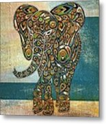 Elefantos - 01ac03at03b Metal Print by Variance Collections