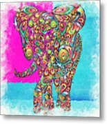 Elefantos - Ptw01a Metal Print by Variance Collections