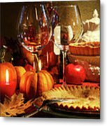 Elegant Festive Table Metal Print