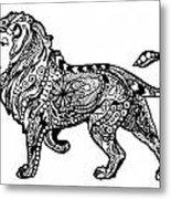 Elegant Lion Metal Print