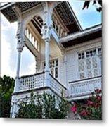 Elegant White House And Balcony Metal Print