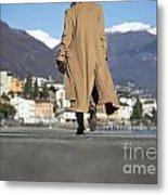 Elegant Woman Walking Metal Print