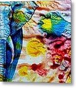 Elepant Abstract Metal Print