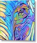 Elephant - Sky Blue Metal Print