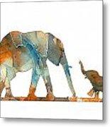 Elephant 01-2 Metal Print
