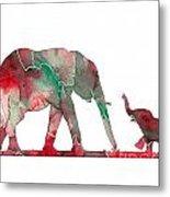 Elephant 01-6 Metal Print