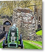 Elephant And Cannon Of The Tower Metal Print