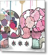 Elephant Confection Metal Print