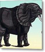 Elephant From The Historiae Animalium 16th Century Metal Print