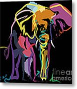 Elephant In Colour Metal Print