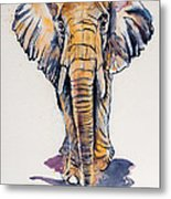Elephant In Gold Metal Print
