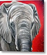 Elephant Six Of Eight Metal Print