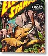 Elephant Stampede, Aka Bomba And The Metal Print