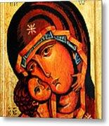Eleusa Icon Metal Print