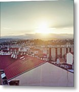 Elevated View Of City, Nice, France Metal Print