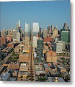 Elevated View Of Cityscape, Lake Street Metal Print