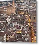 Elevated View Of Florence Metal Print