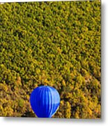 Elevated View Of Hot Air Balloon Metal Print