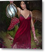 Elf With Lantern Metal Print