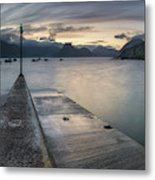 Elgol Pier And Boats With Cuillin Metal Print