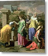 Eliezer And Rebecca At The Well Metal Print
