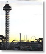 Elitch Gardens Night 2 Metal Print