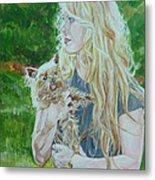 Elizabeth South And Ginger Metal Print