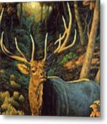 Elk Painting - Autumn Majesty Metal Print