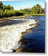 Elk River At Marabou Ranch Metal Print