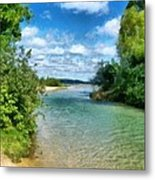 Elk River- Elk Rapids Michigan Metal Print