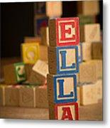 Ella - Alphabet Blocks Metal Print